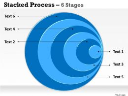 Stacked blue graphics 6 Stages
