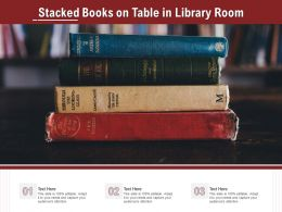 Stacked Books On Table In Library Room