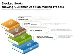 Stacked Books Showing Customer Decision Making Process