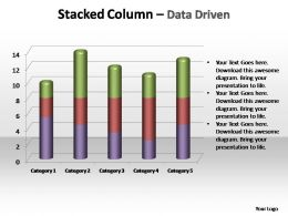 stacked column data driven editable powerpoint templates