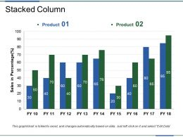 Stacked Column Powerpoint Presentation Templates