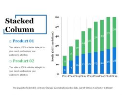 Stacked Column Powerpoint Slide Designs