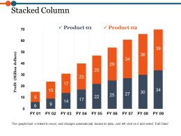 Stacked Column Powerpoint Slide Designs Download