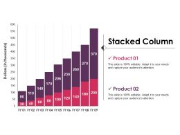 Stacked Column Powerpoint Slide Presentation Sample