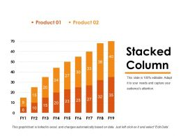 Stacked Column Powerpoint Templates Microsoft