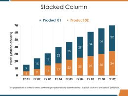 Stacked Column Ppt Background Designs