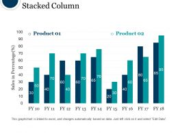 Stacked Column Ppt Design