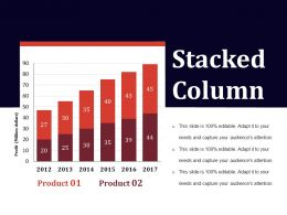 Stacked Column Ppt Infographics Template 2