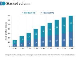 Stacked Column Ppt Portfolio Layout Ideas