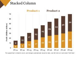 Stacked Column Ppt Presentation Examples Template 1