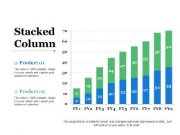 Stacked Column Ppt Slides Infographics