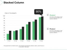 Stacked Column Ppt Styles Slides