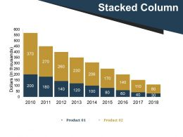 Stacked Column Presentation Pictures