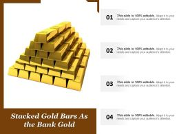 Stacked Gold Bars As The Bank Gold