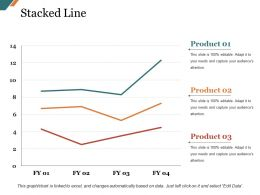 Stacked Line Presentation Graphics