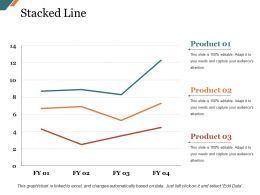 Stacked Line Presentation Graphics