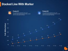 Stacked Line With Marker Automatically Ppt Powerpoint Presentation Styles Design Inspiration
