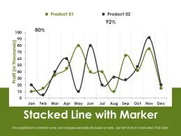 Stacked Line With Marker Powerpoint Slide Themes