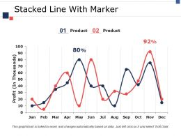 Stacked Line With Marker Ppt Model Format