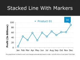 Stacked Line With Markers Ppt Images Gallery