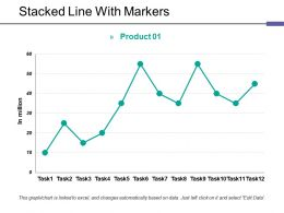 Stacked Line With Markers Ppt Themes