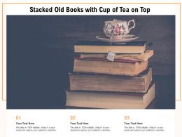 Stacked Old Books With Cup Of Tea On Top