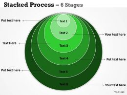 Stacked Process green 6 Stages