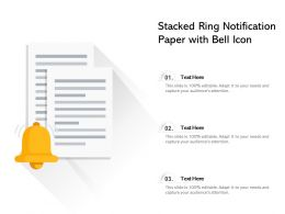 Stacked Ring Notification Paper With Bell Icon