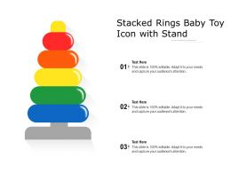 Stacked Rings Baby Toy Icon With Stand