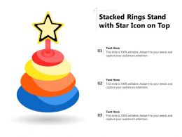 Stacked Rings Stand With Star Icon On Top