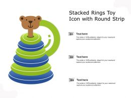 Stacked Rings Toy Icon With Round Strip