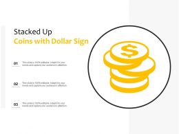 Stacked Up Coins With Dollar Sign