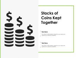 Stacks Of Coins Kept Together