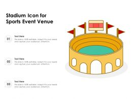 Stadium Icon For Sports Event Venue