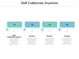 Staff Collaborate Anywhere Ppt Powerpoint Presentation Summary Files Cpb