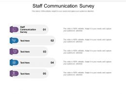 Staff Communication Survey Ppt Powerpoint Presentation Styles Template Cpb