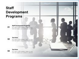 Staff Development Programs Ppt Powerpoint Presentation Pictures Styles Cpb