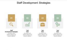 Staff Development Strategies Ppt Powerpoint Presentation Icon Examples Cpb