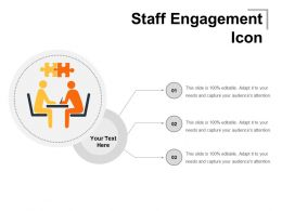 Staff Engagement Icon Powerpoint Graphics