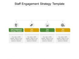 Staff Engagement Strategy Template Ppt Powerpoint Presentation Show Microsoft Cpb
