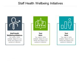 Staff Health Wellbeing Initiatives Ppt Powerpoint Presentation File Master Slide Cpb