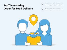 Staff Icon Taking Order For Food Delivery