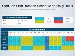 Staff Job Shift Rotation Schedule On Daily Basis