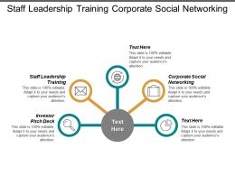 Staff Leadership Training Corporate Social Networking Investor Pitch Deck Cpb