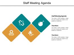 Staff Meeting Agenda Ppt Powerpoint Presentation File Vector Cpb
