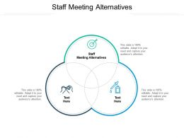 Staff Meeting Alternatives Ppt Powerpoint Presentation File Templates Cpb