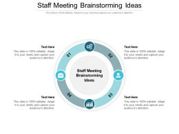 Staff Meeting Brainstorming Ideas Ppt Powerpoint Presentation Styles Show Cpb