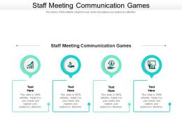 Staff Meeting Communication Games Ppt Powerpoint Presentation Inspiration Format Cpb