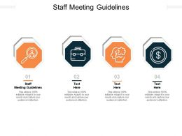 Staff Meeting Guidelines Ppt Powerpoint Presentation Icon File Formats Cpb