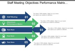 Staff Meeting Objectives Performance Matrix Business Value Meeting Strategy Cpb